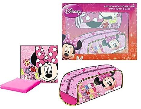 Minnie Mouse - Set regalo con toalla y neceser, 29 x 22 cm (Coriex
