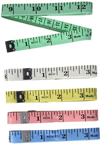 Cinta métrica, flexible de gamuza regla cuerpo/hogar las medidas, blanco, 5piezas