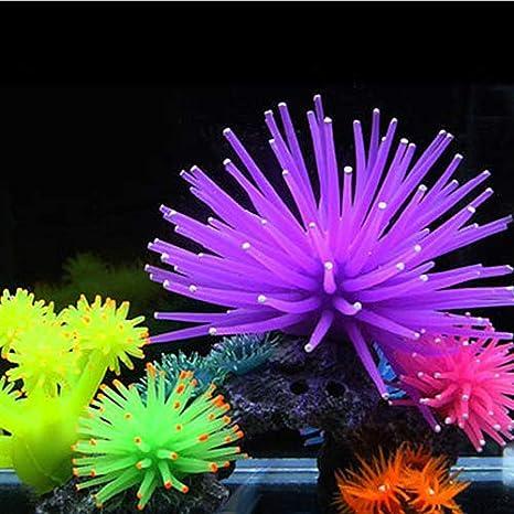 Danigrefinb Acuario Fish Tank Decoraciones Artificial Coral Planta Silicona Acuario Acuario Pecera Decoración Underwater Adornos: Amazon.es: Productos para ...