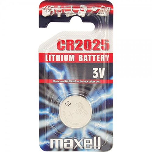 Connector 3 Volt Lithium Battery (Maxell- Cr2025 Lithium Coin)