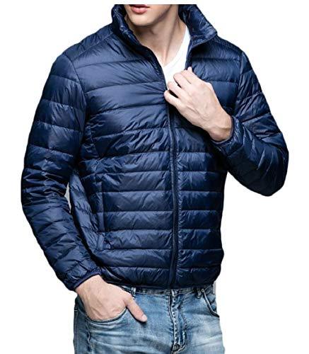 Gocgt Cappotto Alla Uomini Piumino Del Coreana Packable Navy Colletto Outwear Blu Leggero XwPFBf
