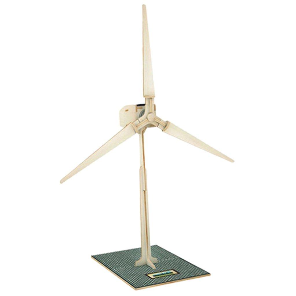 MagiDeal énergie Solaire Actionné Moulin à Vent 3D DIY Puzzle En Bois D'enfants Jouet Solaire - 2# non-brand