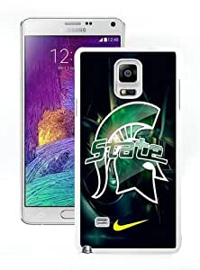 Lovely And Durable Custom Designed Case For Samsung Galaxy Note 4 N910A N910T N910P N910V N910R4 With Michigan State Spartans 01 White Phone Case