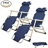 Fold Up Chairs KARMAS PRODUCT Outdoor Patio Chaise Lounge Chair Folding Recline 2 Position Large