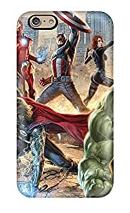 Rugged Skin Case Cover For Iphone 6- Eco-friendly Packaging(the Avengers)