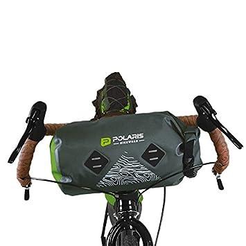 3d364474374 Polaris VENTURA HANDLEBAR BAG, Green, 8 litres bikepacking luggage ...