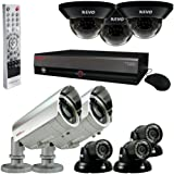 REVO America Professional Surveillance Security System with 16-Channel 4TB DVR, 6 Quick Connect Indoor/Outdoor and 2 Elite Cameras