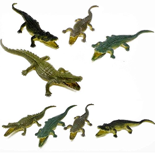 Fun Central AY800, 2 Packs of 12 Pcs , 6 Inch Crocodiles Action Figure, Crocodile Hunter Action Figure, Crocodile Animal Toy - for Party Favors, Gifts, Prizes, Rewards, Assorted -