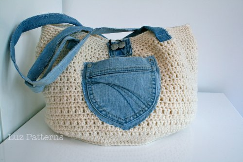 Crochet Book Crochet Bag Pattern With Up Upcycled Jeans 101