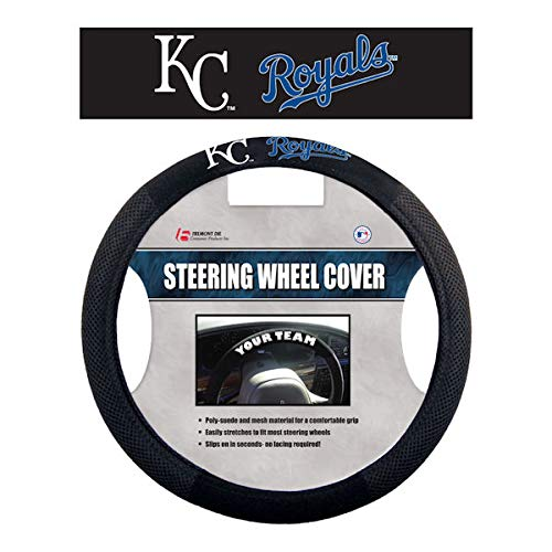 Poly Wheel Steering Cover Suede - MLB Kansas City Royals Poly-Suede Steering Wheel Cover