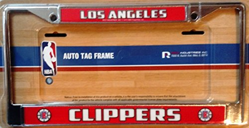 Los Angeles Clippers RED LBL Chrome Frame Metal License Plate Cover ()