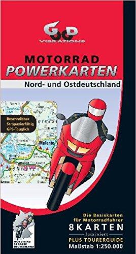 Motorrad Powerkarten Nord- und Ostdeutschland 1 : 250 000. Powerbox: 8 laminierte Kartenblätter plus Tourerguide. GPS-tauglich (Motorrad Powerkarten ... und wieder abwischbar + Tourerguide) Landkarte – Folded Map, 31. März 2005 Good Vibrations GeoCenter 39