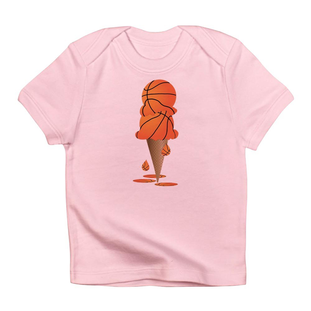 6-12 Truly Teague Infant T-Shirt Basketball Ice Cream Cone Petal Pink
