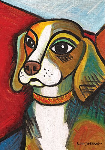 Beagle Flag (Toland Home Garden Pawcasso Beagle 28 x 40 Inch Decorative Puppy Dog Portrait House Flag)