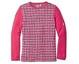 SmartWool Kids' Merino 250 Baselayer Pattern Crew (Potion Pink) Medium