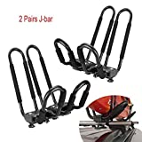 Egreaten Universal Kayak Rack Holder J Bar, 2 pairs-Bar HD Kayak Rack Carrier Canoe Boat Surf Ski Roof Top Mount Car SUV Crossbar