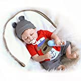 57cm Rare Alive Silicone Vinyl Full Body Washable Newborn Sleeping Baby Boy Dolls by Terabithia