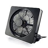 ETONG 6 Inch Portable Fan AA Battery Powered USB Table Fans 2 speed 6-Inch Cooling Desktop Fan Electric Personal Fans Box Fan Table Fan (Black)
