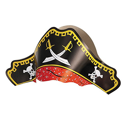 Paper Pirate Hats, 4ct