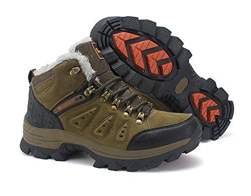 Los zapatos de senderismo al aire libre para hombres llevan antideslizante y cachemira c¨¢lido 46