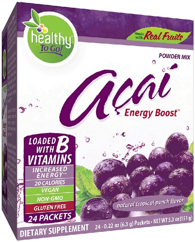 - To Go Brands Acai Energy, Tropical Punch Flavor, 24-Count Boxes