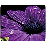 Supwek Mouse Pad Purple Daisy 17176 Oblong Shaped Mouse Mat Design Natural Eco Rubber Durable Computer Desk Stationery Accessories Mouse Pads For Gift