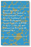 Social Approach Behaviors are Similar on Conventional Versus Reverse Lighting Cycles, and in Replications Across Cohorts, in BTBR T+ tf/J, C57BL/6J, and Vasopressin Receptor 1B Mutant Mice