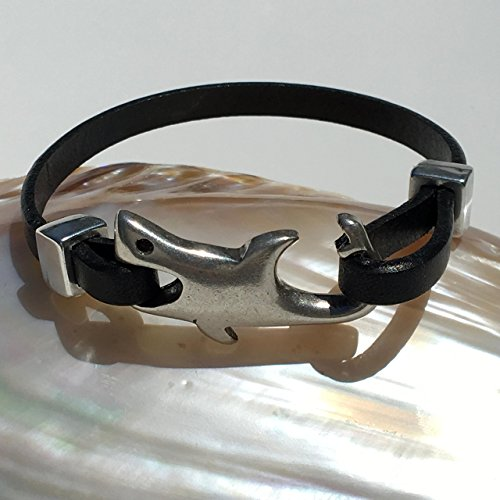 Leather Shark Bracelet