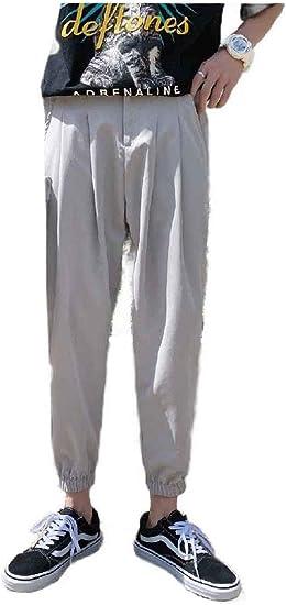 VITryst Mens Solid Plus Size Baggy Summer Slim-Tapered Harem Jogging Pants