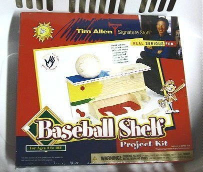 Baseball Shelf Project Kit / Tim Allen Signature - Tim Wood Baseball