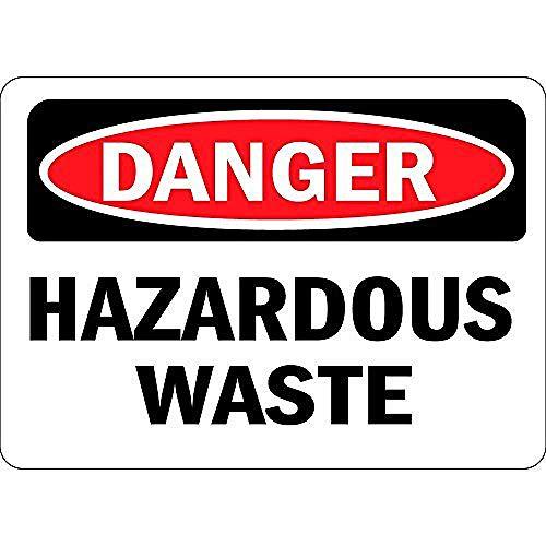 危険有害廃棄物 金属板ブリキ看板警告サイン注意サイン表示パネル情報サイン金属安全サイン