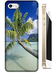 Beautiful Beach Sunshine Sea Water Clean White Cloud Design For iPhone 5C No.30