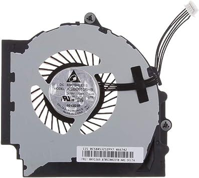 P Prettyia Ventilador de Refrigeración de CPU Ordenador Portátil ...