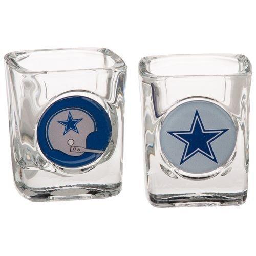 Dallas Cowboys 2pc Collector's Shot Glass Set