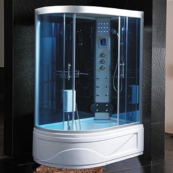 Hidromasaje con Cabina de ducha 130 x 85 Sauna de baño ...