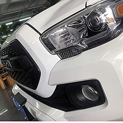 JSTOTRIM Front Bumper Chrome Headlight Honeycomb Style Cover Trims for 2015 2016 2020 2020 2020 2020 Toyota Tacoma Accessories: Automotive