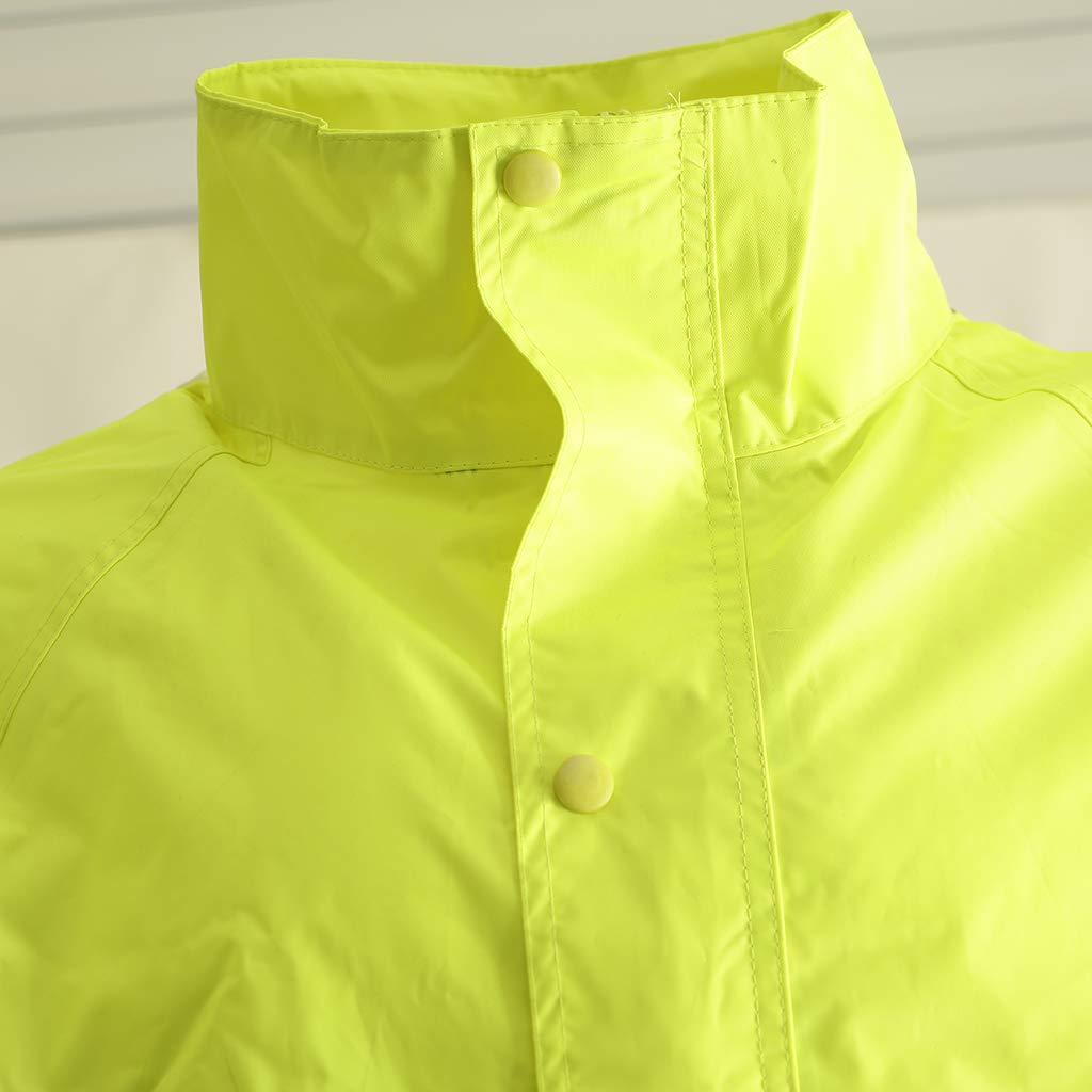 Flameer Reflective Raincoat Waterproof Rainwear Hood Jacket Outdoor Coat Pants Zipper Design - XXL by Flameer (Image #7)