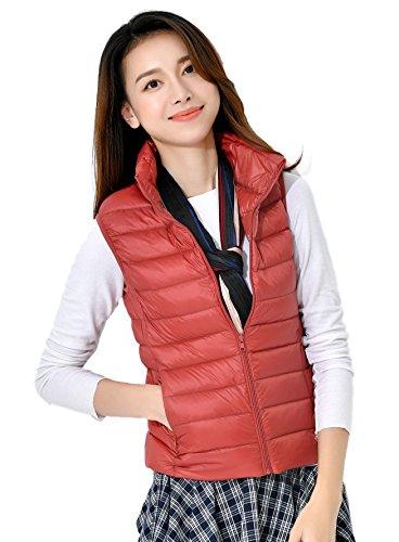 Collar Packable Ligero Chaqueta Disponibles Mujeres Soporte Naranja Colores Las Calentar Down Chaleco 10 Rojo Del Abajo De Coat Santimon 80qBzz