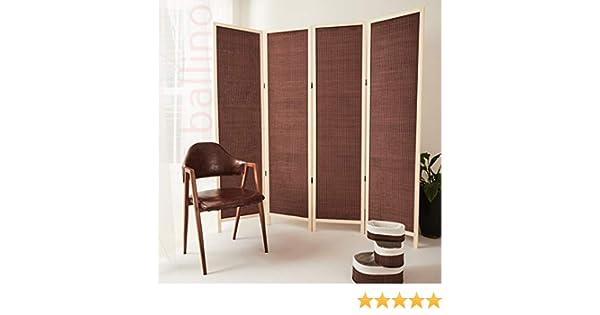 Ballino - Divisor de mimbre hecho a mano con pantalla de privacidad, madera, color marrón oscuro, 240 x 5 x 170 cm 3/4/5/6 paneles separador de habitación 3 colores: Amazon.es: Hogar