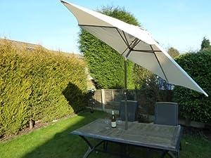 UKGardens Large 27m Cream Crank And Tilt Garden Parasol Umbrella
