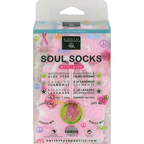 Earth Therapeutics Soul Socks Pink Plka Dot by Earth Therapeutics