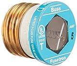 Bussmann T-5 5 Amp Type T Time-Delay Dual-Element Edison Base Plug Fuse, 125V UL Listed