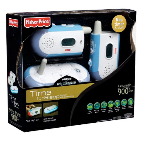 fisher price time for sleep monitor with dual receivers pourbebes. Black Bedroom Furniture Sets. Home Design Ideas