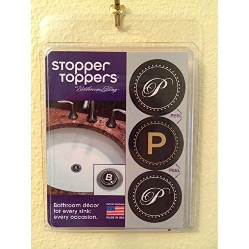 best P Monogram Clamshell Set of 3 Bathroom Sink Stopper Toppers. best P Monogram Clamshell Set of 3 Bathroom Sink Stopper Toppers