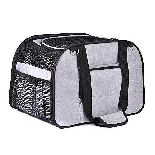 Iseebiz Portable Pet Backpack Messenger Carrier Bags Cat Dog Carrier Outgoing Travel Teddy Packets Breathable Small Pet Handbag