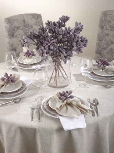 51IzEfD%2Bb7L - Toscana Classic Natural Tablecloth. One Piece. (132 Inch Round)
