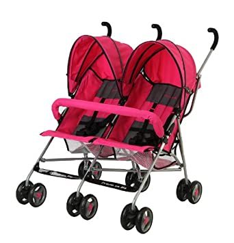 Amazon.com : Dream On Me Double Twin Stroller, Pink : Standard ...