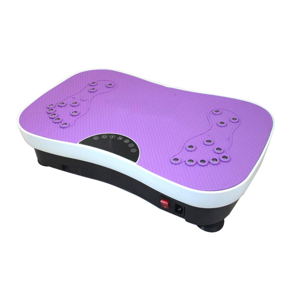 Vibration Platform Machines Fitness Body Shape Exercise Machine with Vibration Plate and Remote Control,Purple