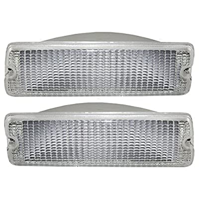 Driver and Passenger Park Signal Front Marker Lights Lamps Lenses Replacement for Dodge Pickup Truck SUV 55026085 55026084