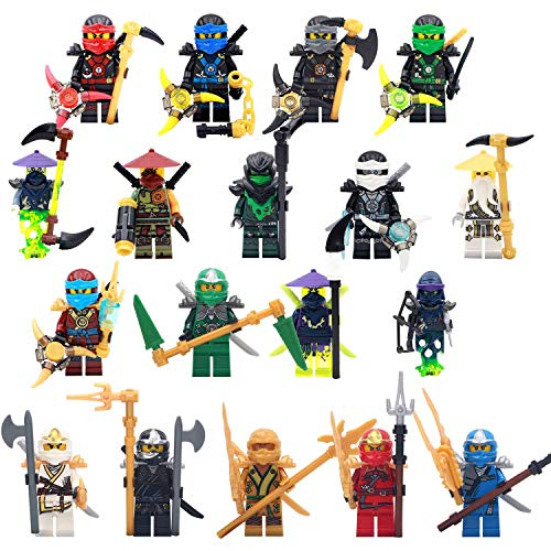 Ninjago Building Blocks 18 Pcs Toys Minifigures Action Figures with Accessories for Kids Set Gift Children Kids Game Toy Play Fun